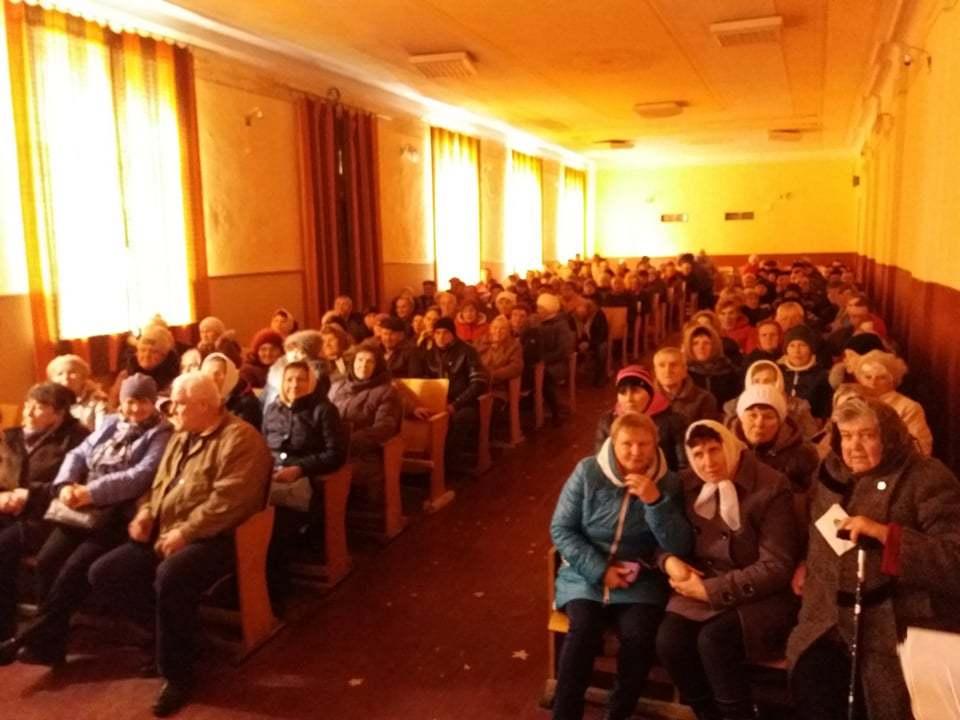 Активисты Партии Шария на собрании в селе Удич