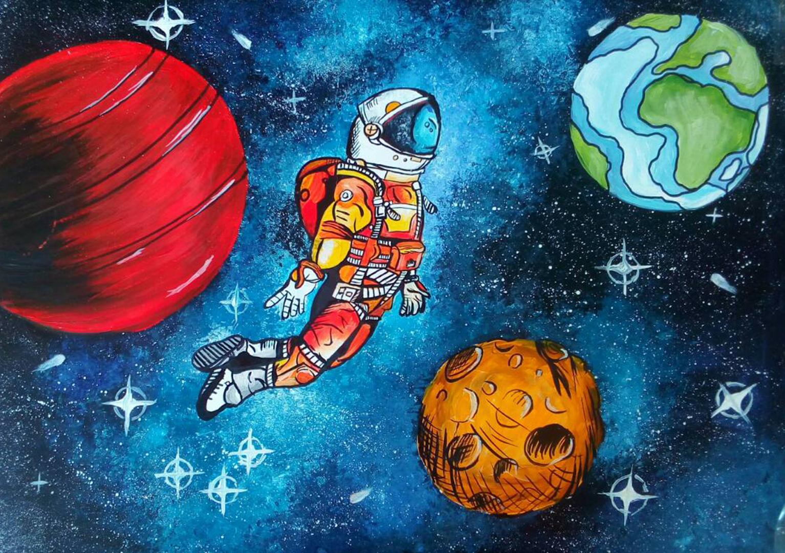 Картинки с космоса для детей, треугольников для