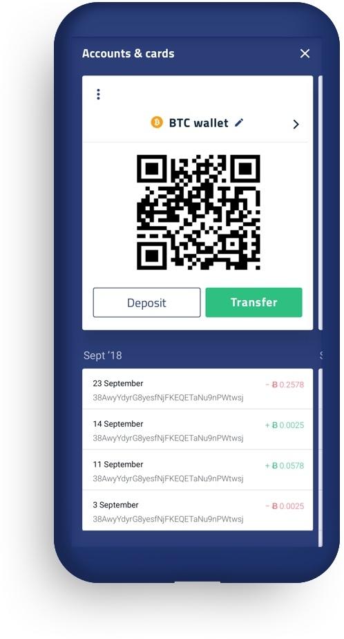 Экран криптосчета мобильного приложения   sobakapav.ru