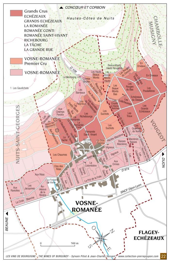 Vosne-Romanee map