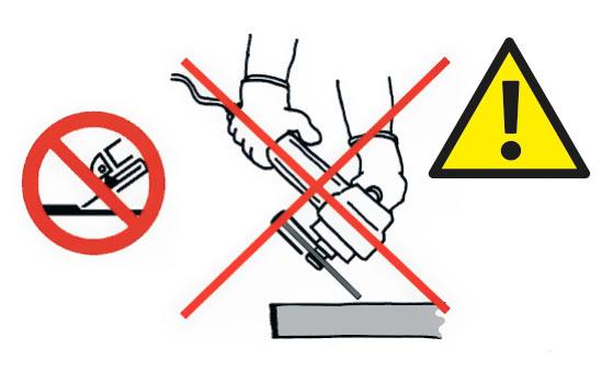 Не использовать режущие диски Тип 41 и Тип 42 для шлифования.