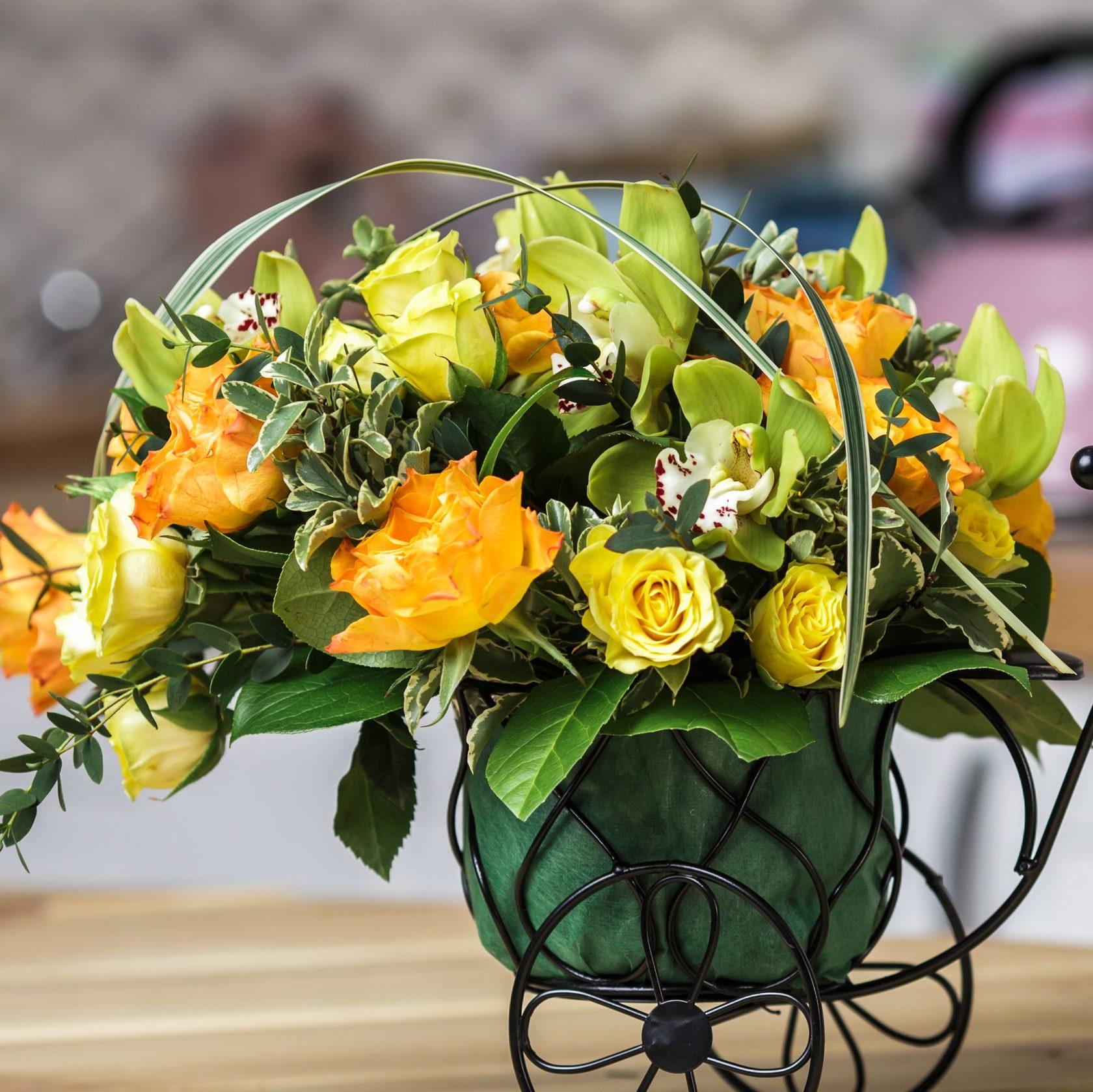 Дизайн и составление букетов из живых цветов, букеты