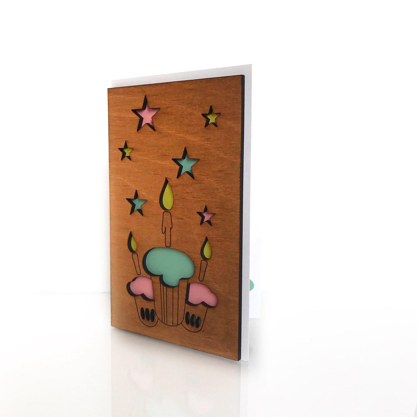Деревянная основа для открыток