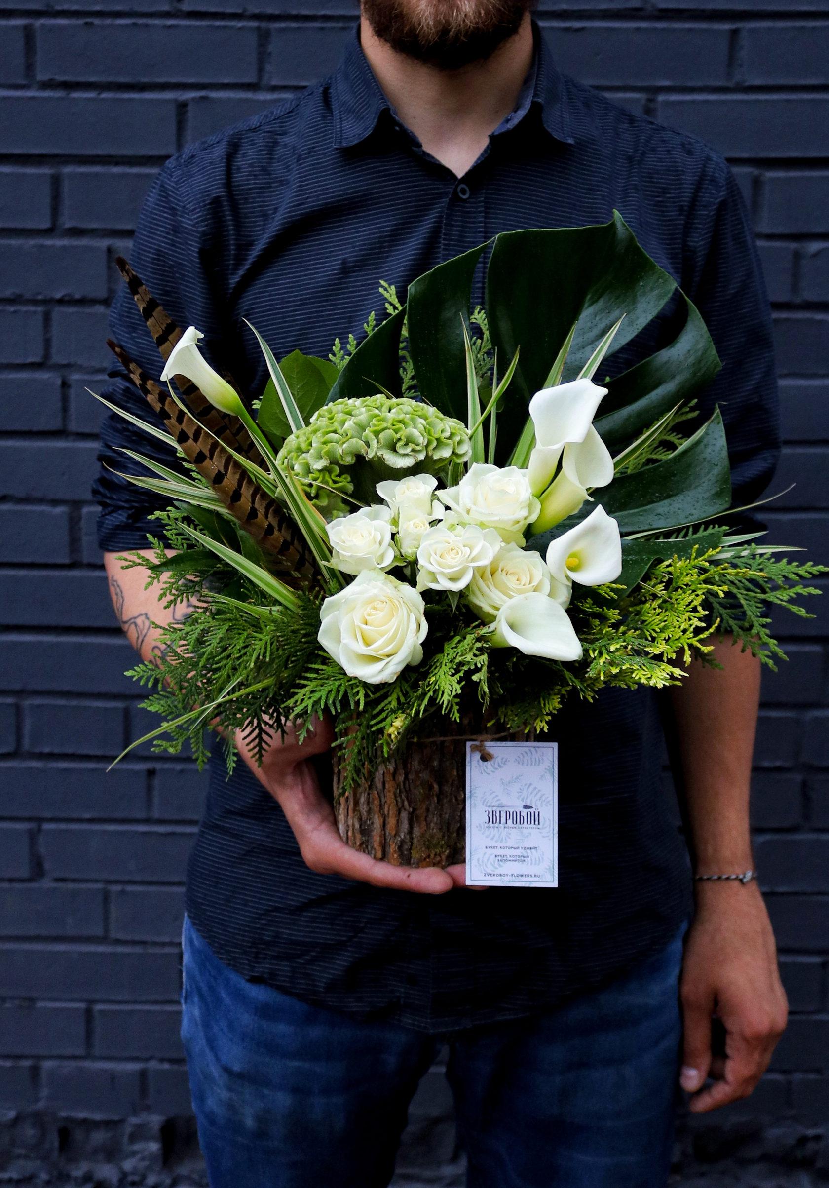 Цветов доставка, букеты для мужчин ровно