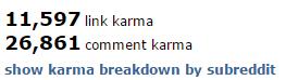 Link- und Comment-Karma