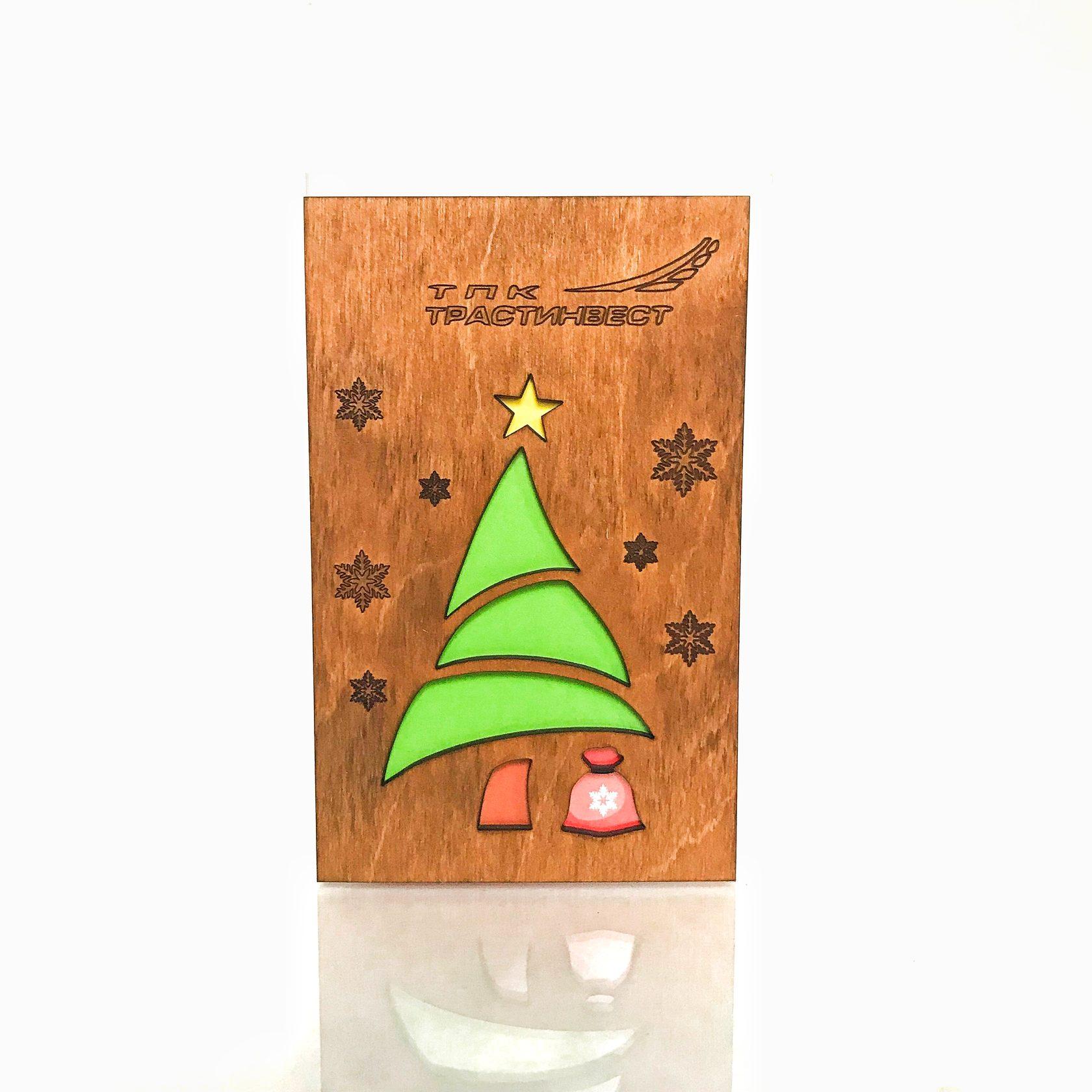 Деревянные открытки от производителя, день введения