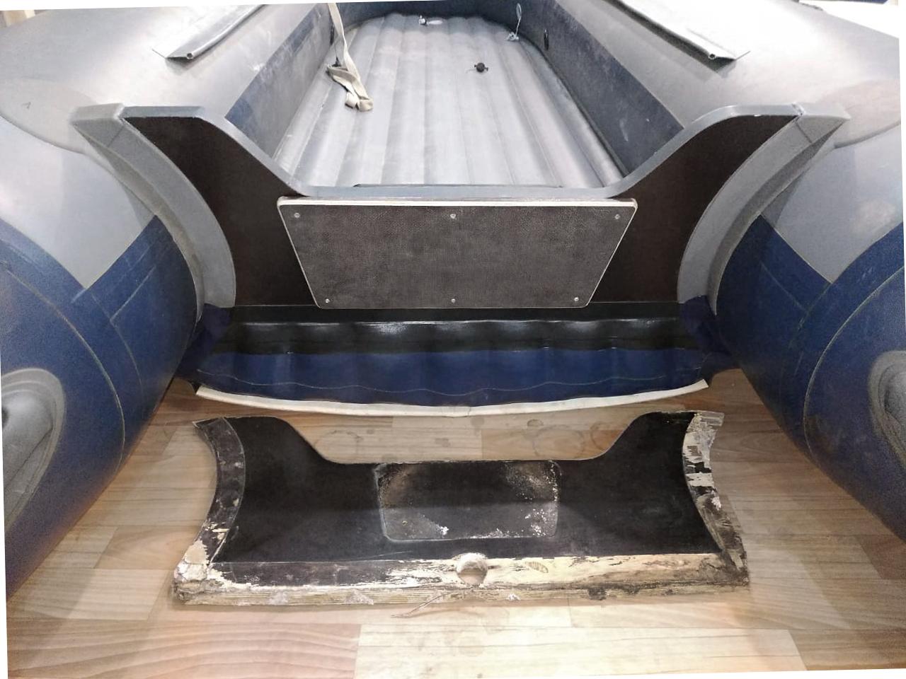 Замена транца на моторной лодке