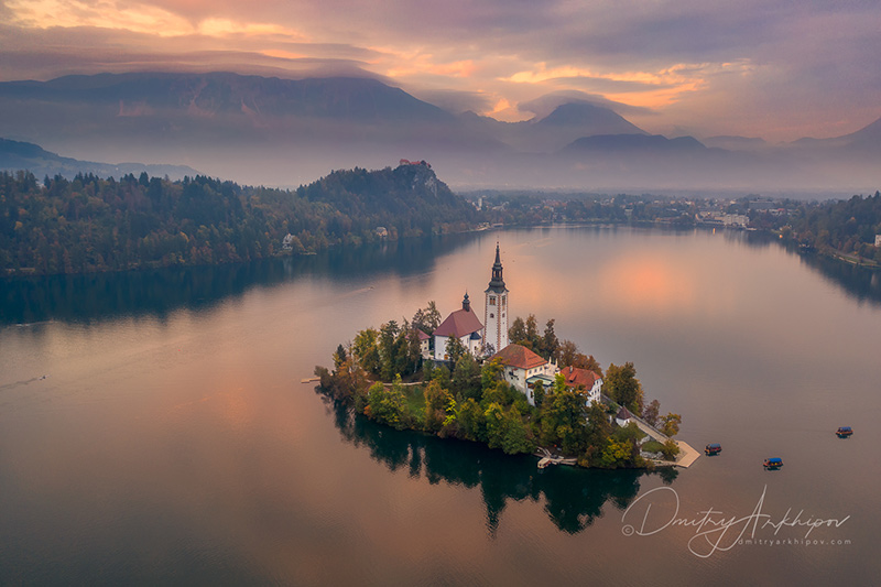 The Church on the Island, Lake Bled, Slovenia