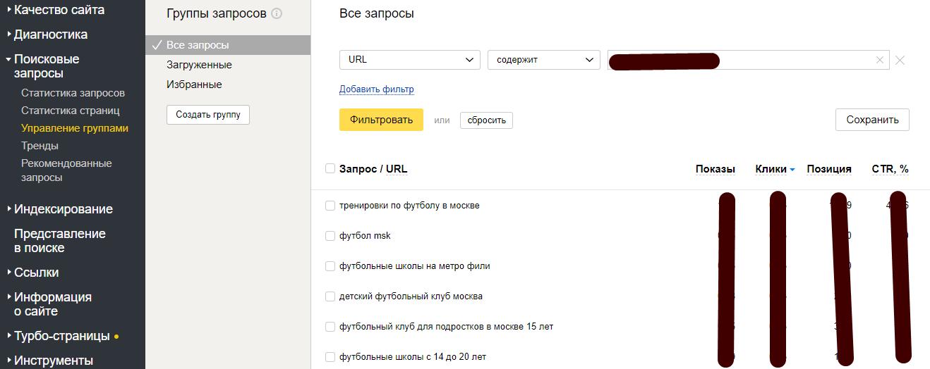 релевантность в яндекс вебмастере
