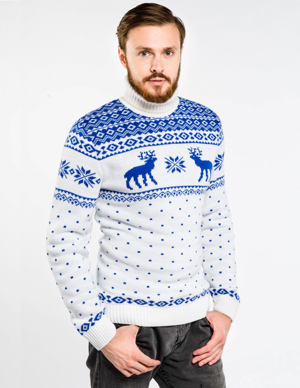 свитер с оленями мужской купить