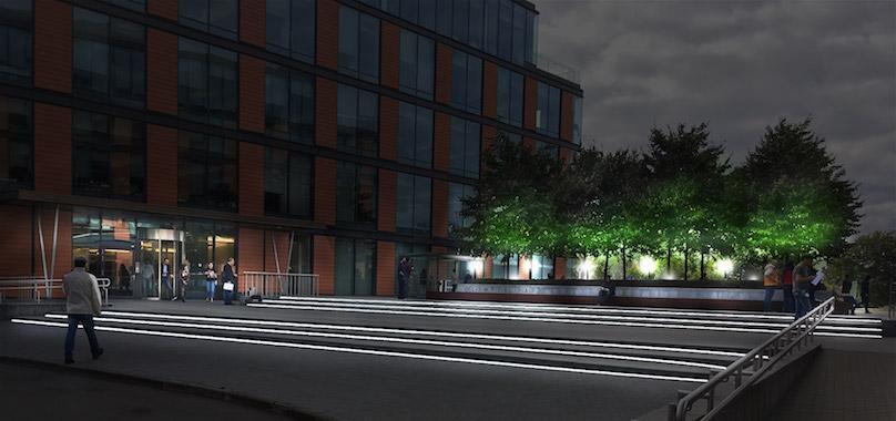 Проект архитектурного освещения в ночное время