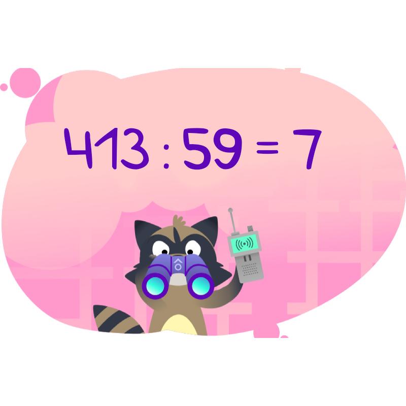 Решение примера на деление многозначного числа на двузначное