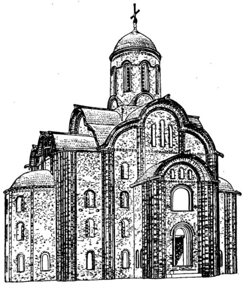 Пятницкий храм в Новгороде. Реконструкция