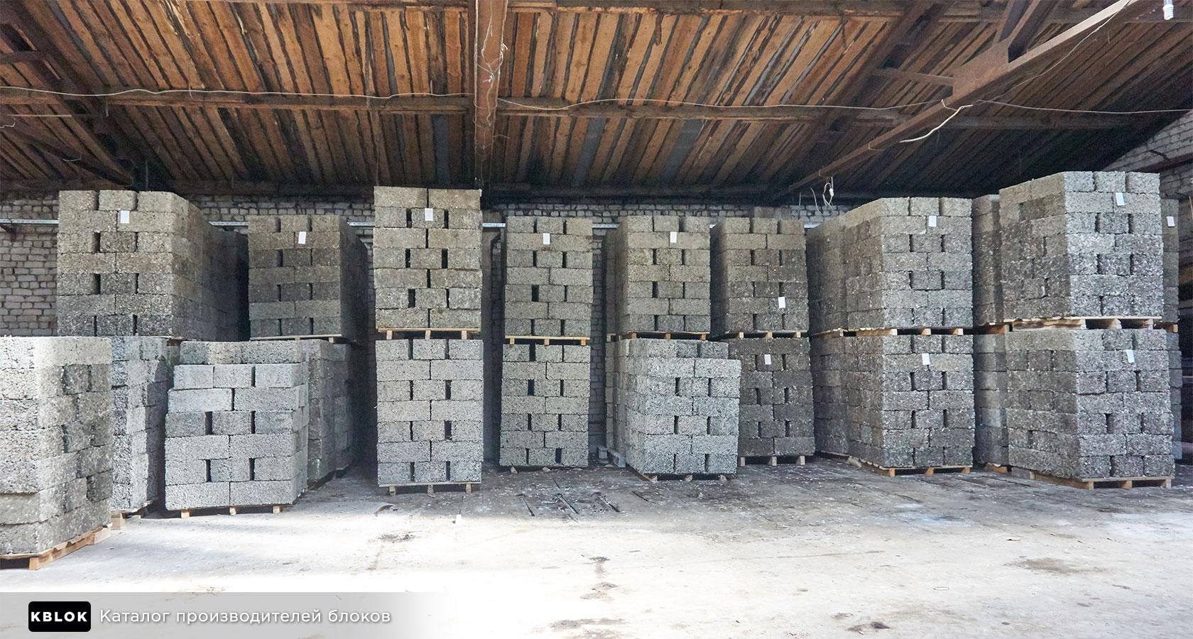 Склад арболитовых блоков в Борском округе