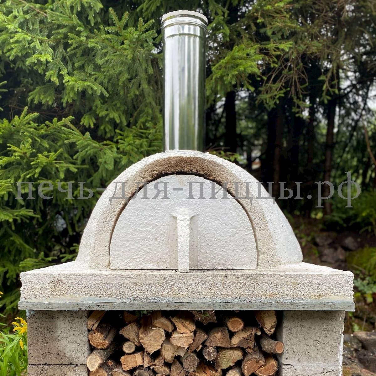 Печь для пиццы из кирпича на дровах