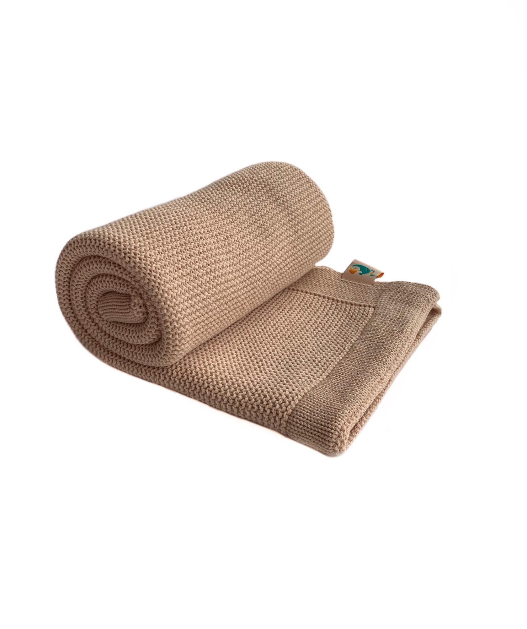 Хлопковый плед Classic песочный купить в интернет-магазине toucankids.ru от производителя по низкой цене