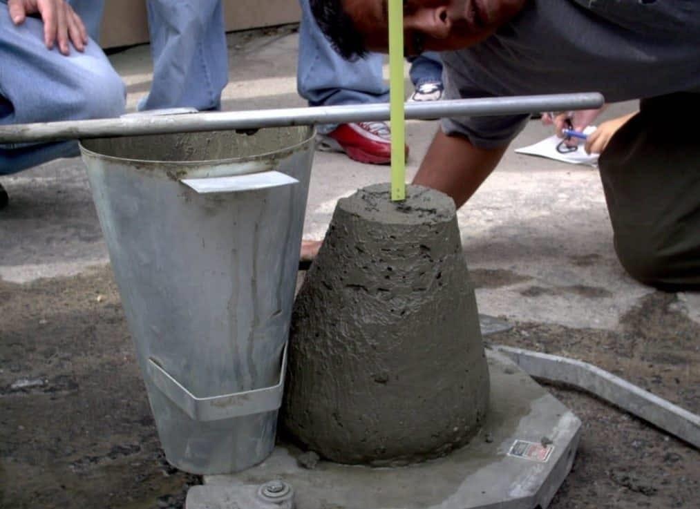 проверка усадки бетона
