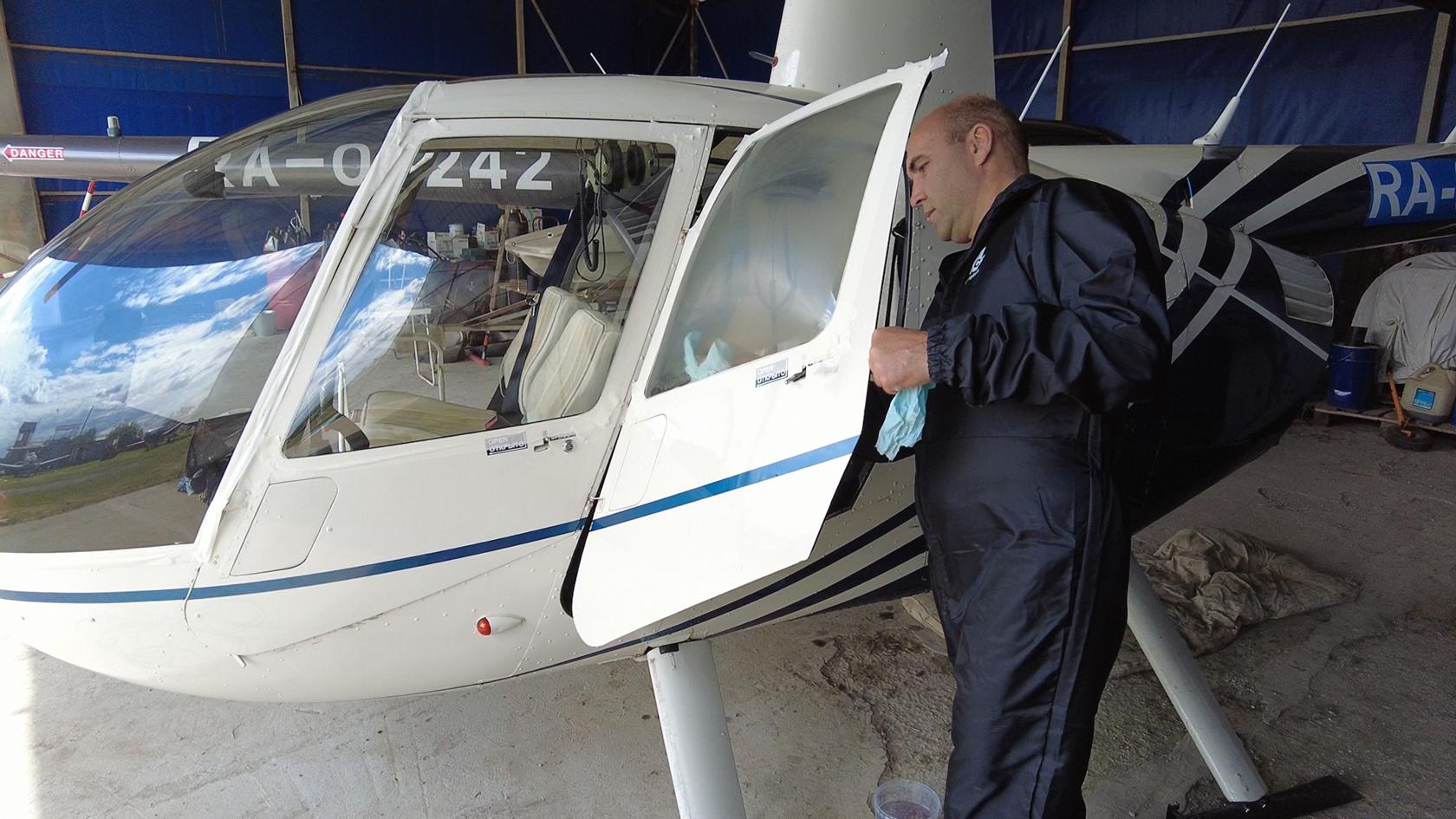 Детейлинг вертолета Robinson R44