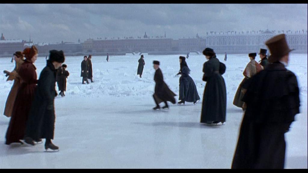 Каток на льду Петропавловской крепости – здесь Онегин наблюдает за Татьяной спустя долгое время разлуки.