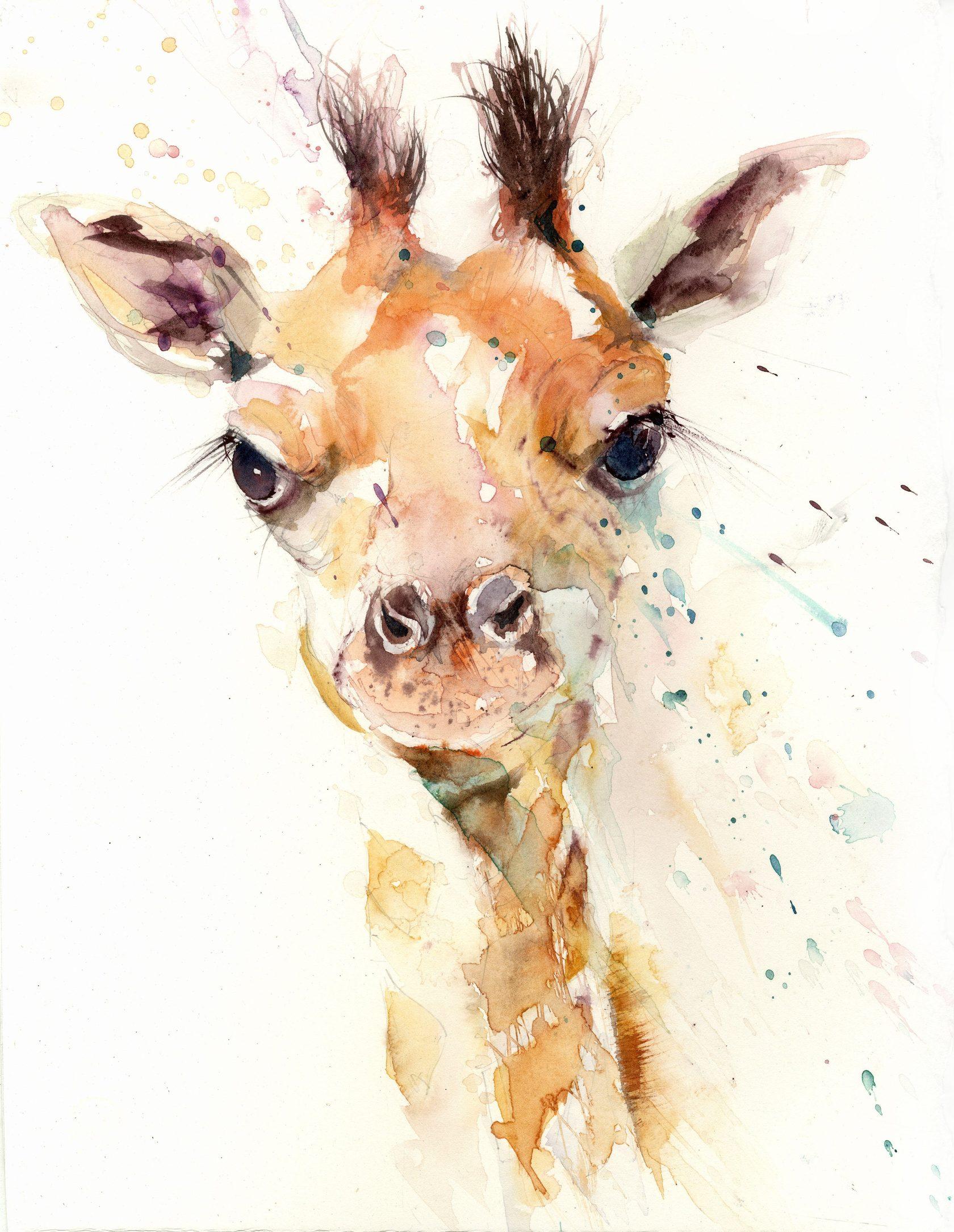 Рисунки животных акварелью прикольные, маму