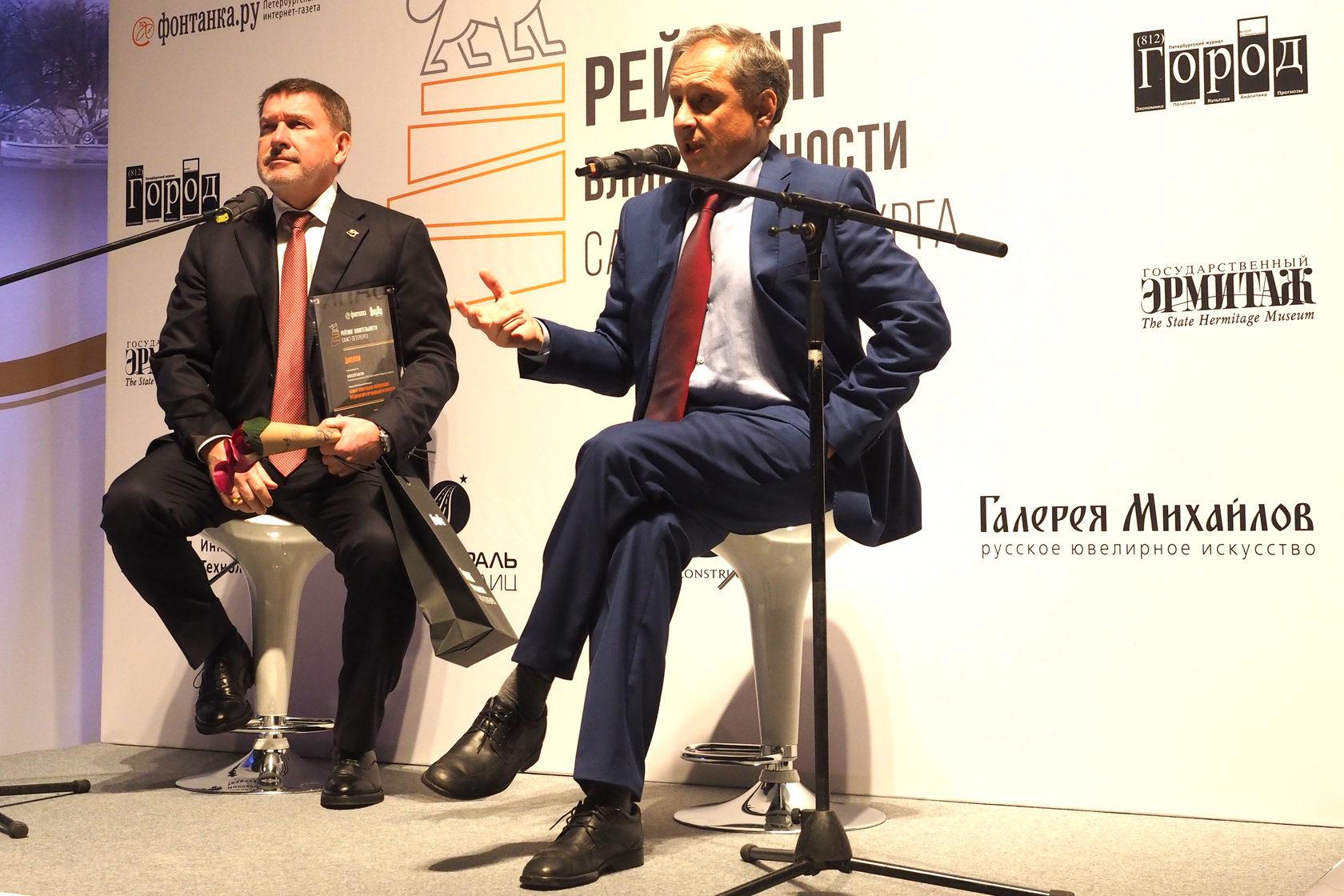Руководитель «Магистрали Северной столицы» Алексей Бнатов и Александр Горшков