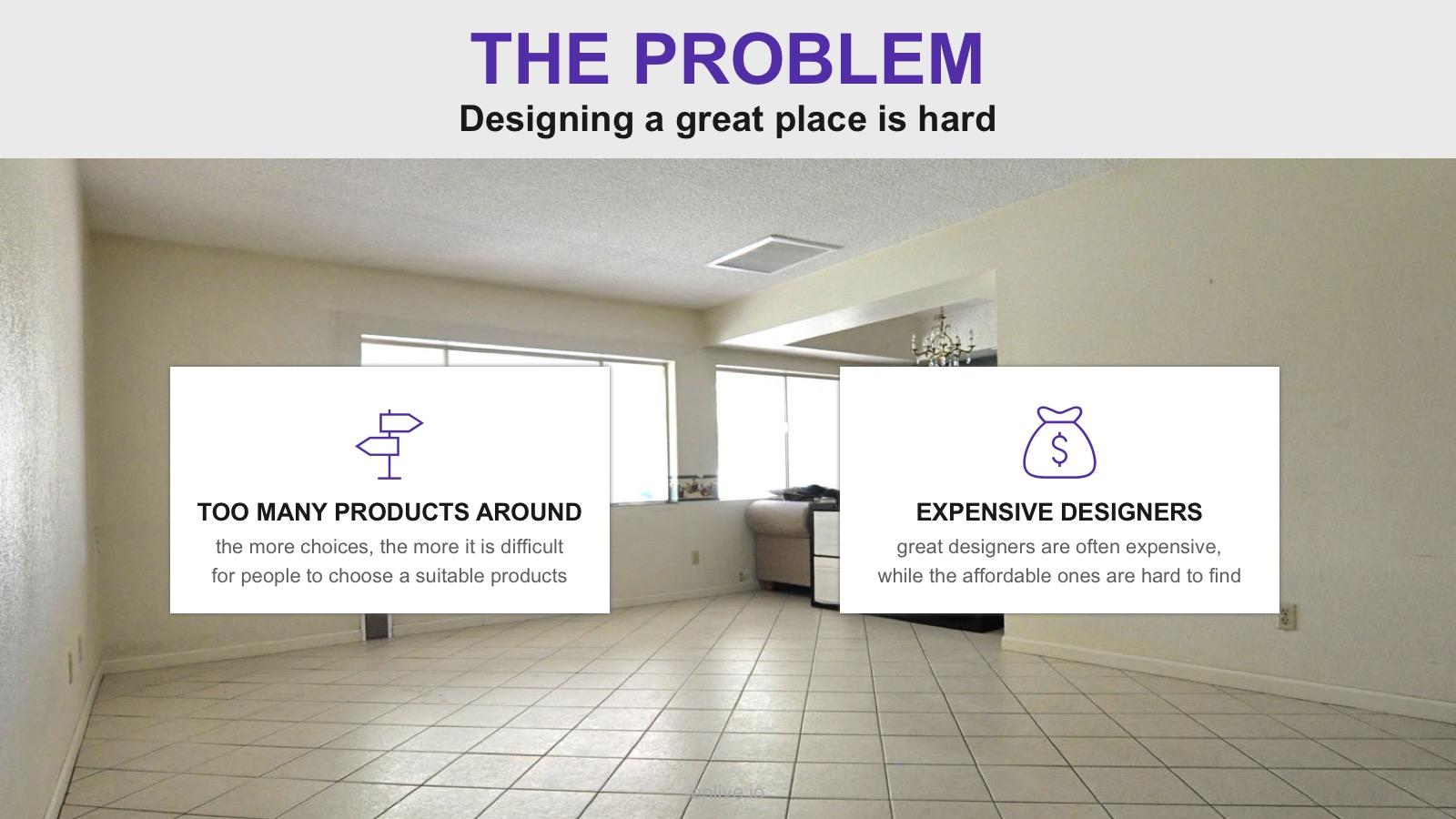 problem slide pitch deck template