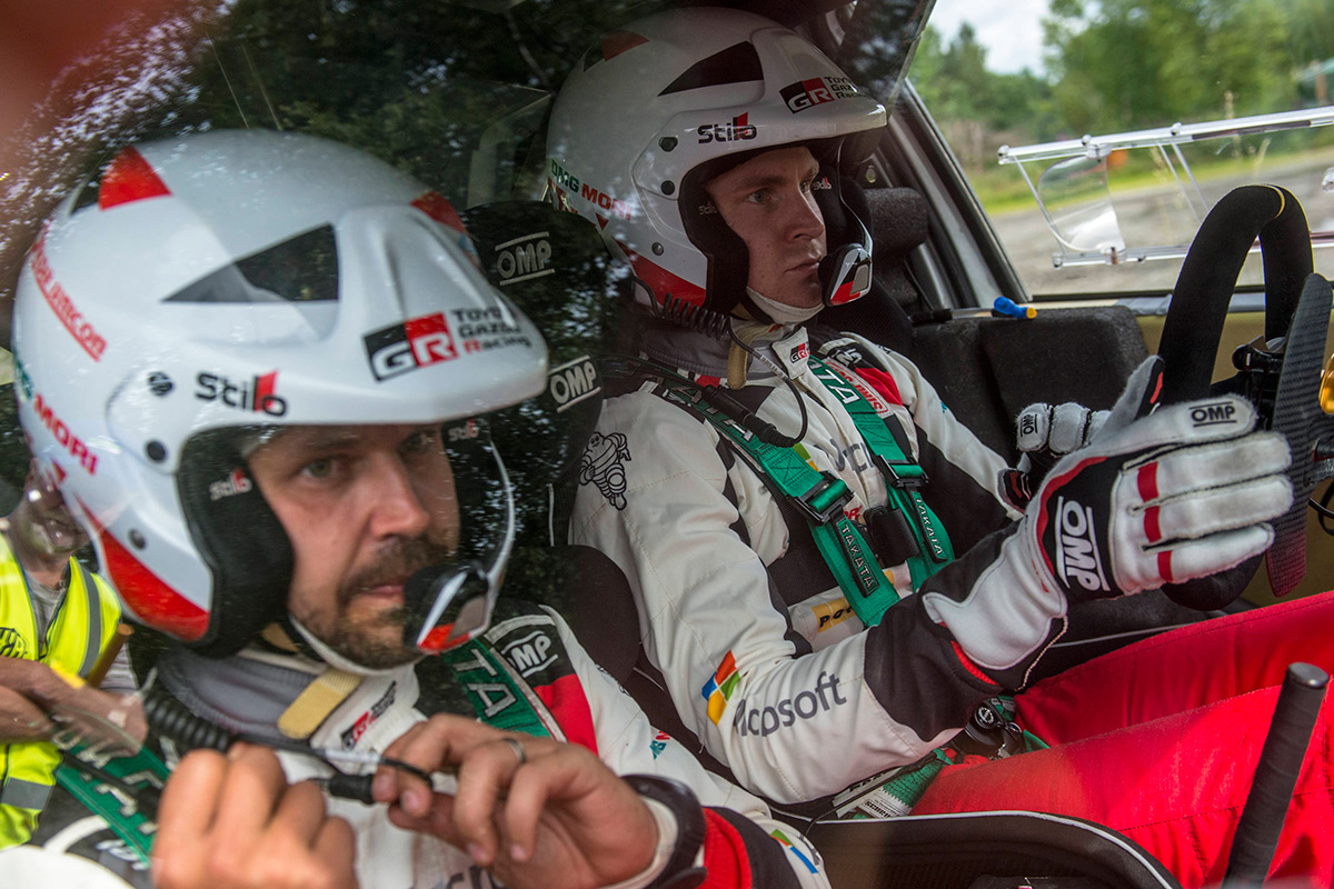 Эсапекка Лаппи и Янне Ферм, Toyota Yaris WRC, ралли Финляндия 2017