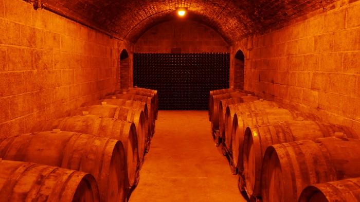 Champagne J.M. Labruyère underground cellar
