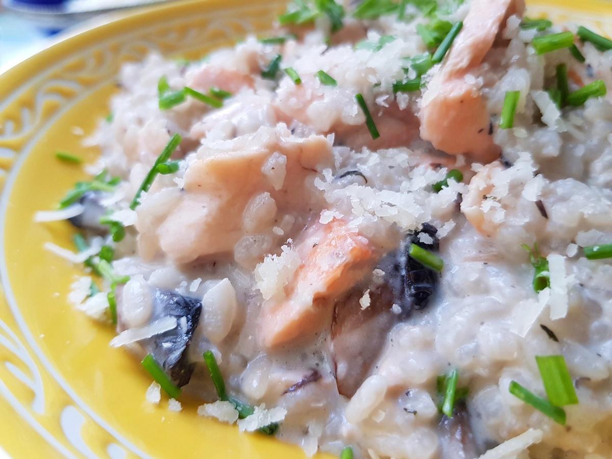 Ризотто с грибами и рыбой. Фото рецепт. Блог Вкусный Израиль.