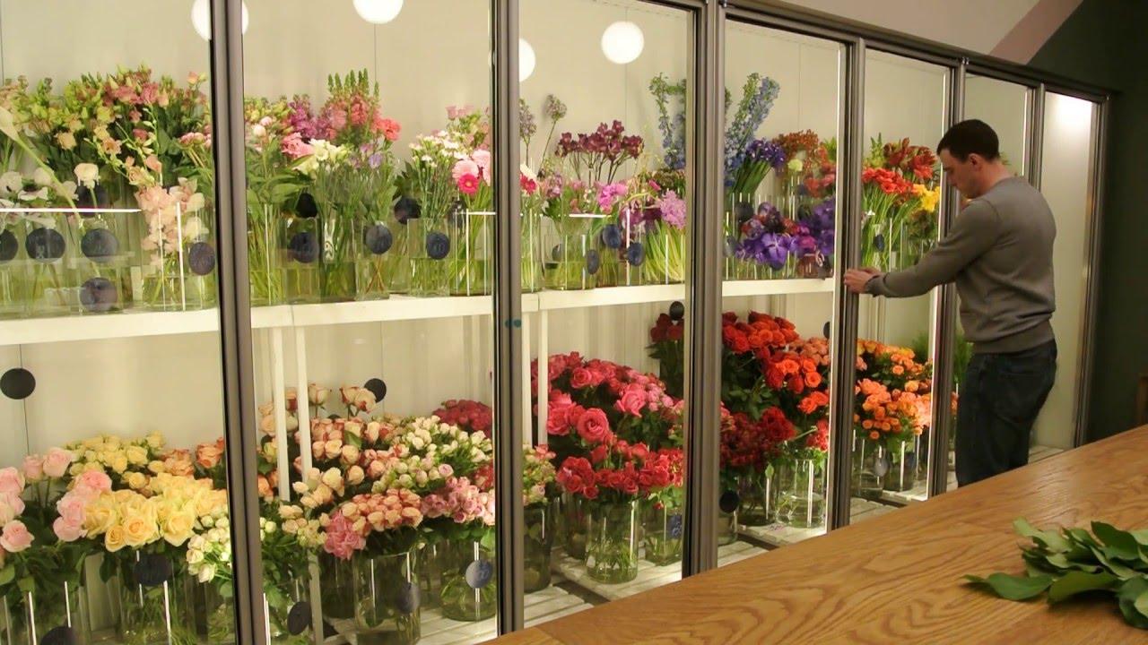 Витрины холодильные под цветы