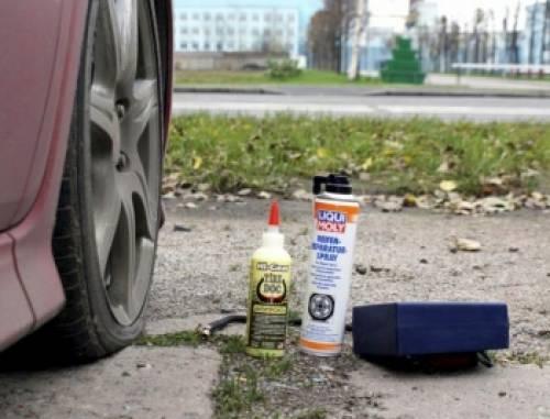 Герметик для ремонта колес