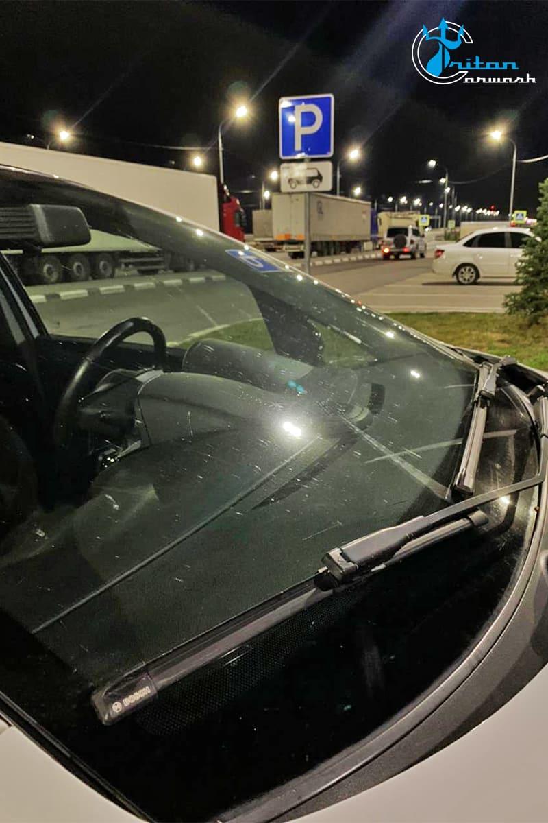 Подготовить стекло автомобиля перед поездкой