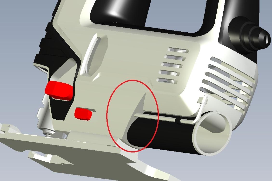 Вопрос: где на корпусе можно разместить шестигранный ключ для фиксации пилки?