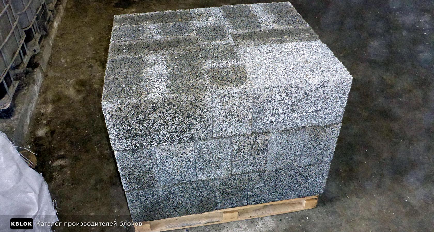 стеновые арболитовые блоки