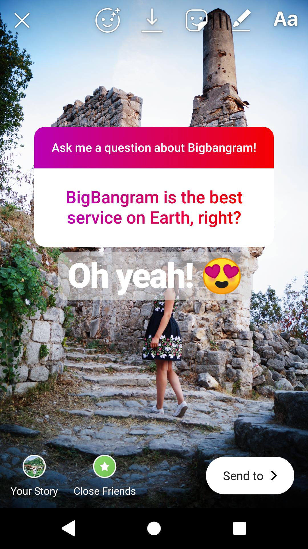 Idea for instagram story