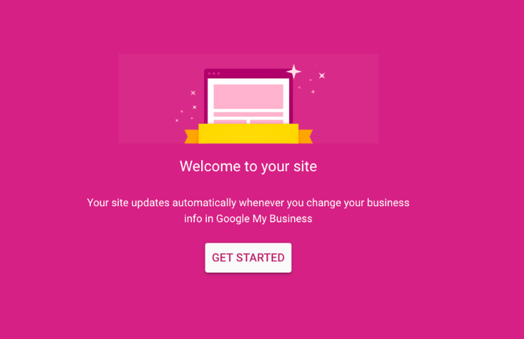 start to create your site