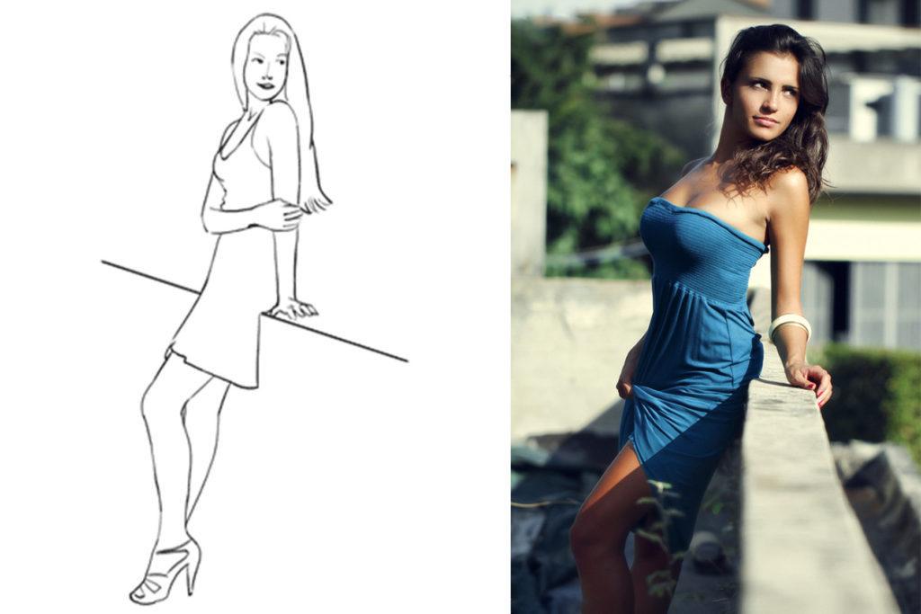 Как фотографировать девушку в платье #4