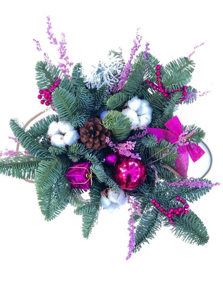 Цветы иркутске, букет из пихты для нового года