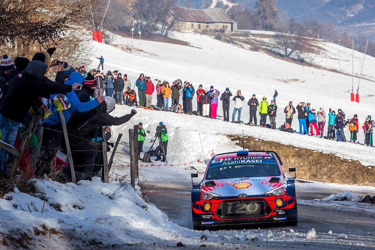 Себастьен Лёб и Даниэль Элена, Hyundai i20 Coupe WRC, ралли Монте-Карло 2019