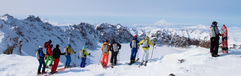 На горных лыжах в вулканы Камчатки