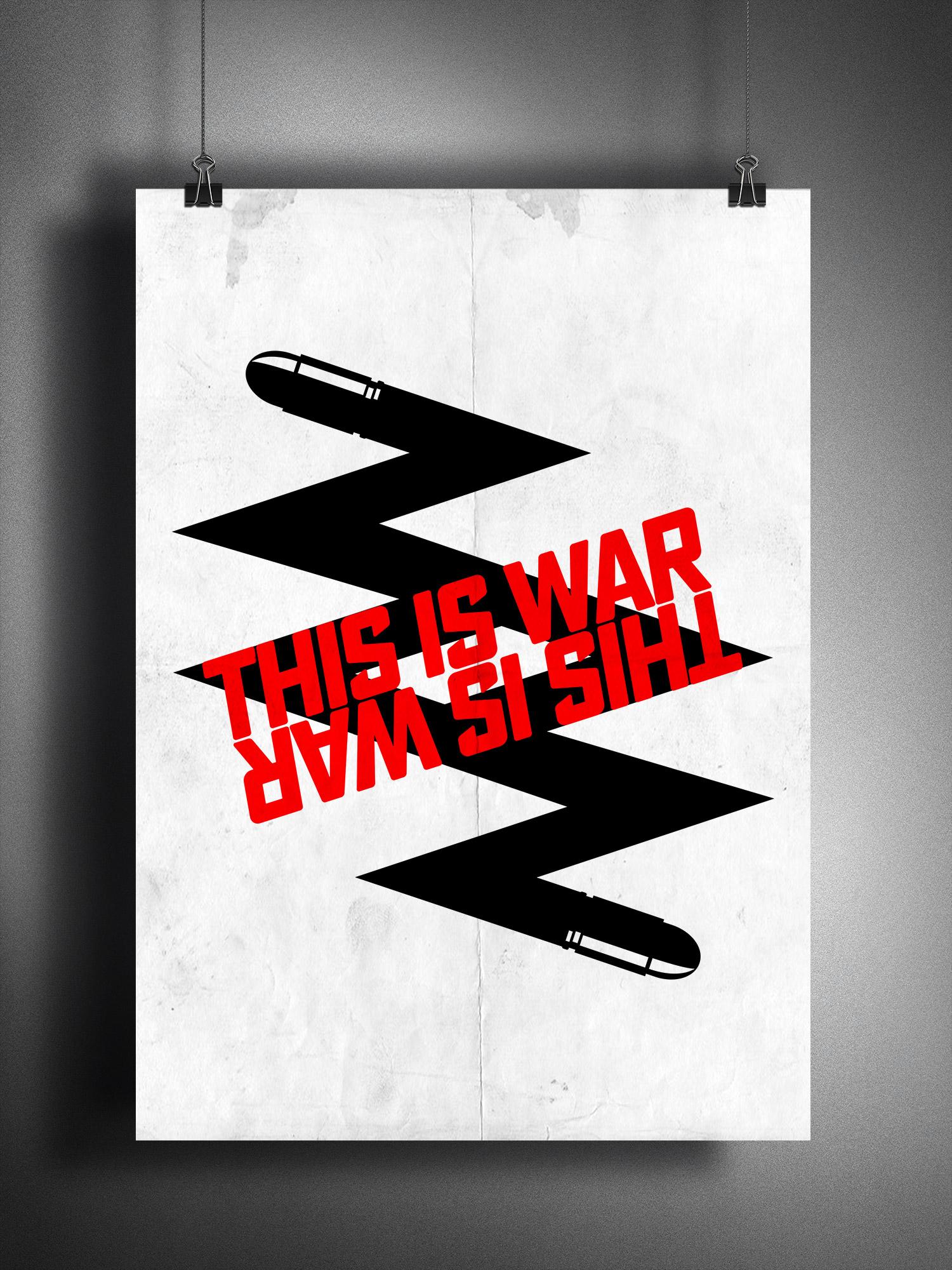Плакат «This is war» (antomal.com™ ©)