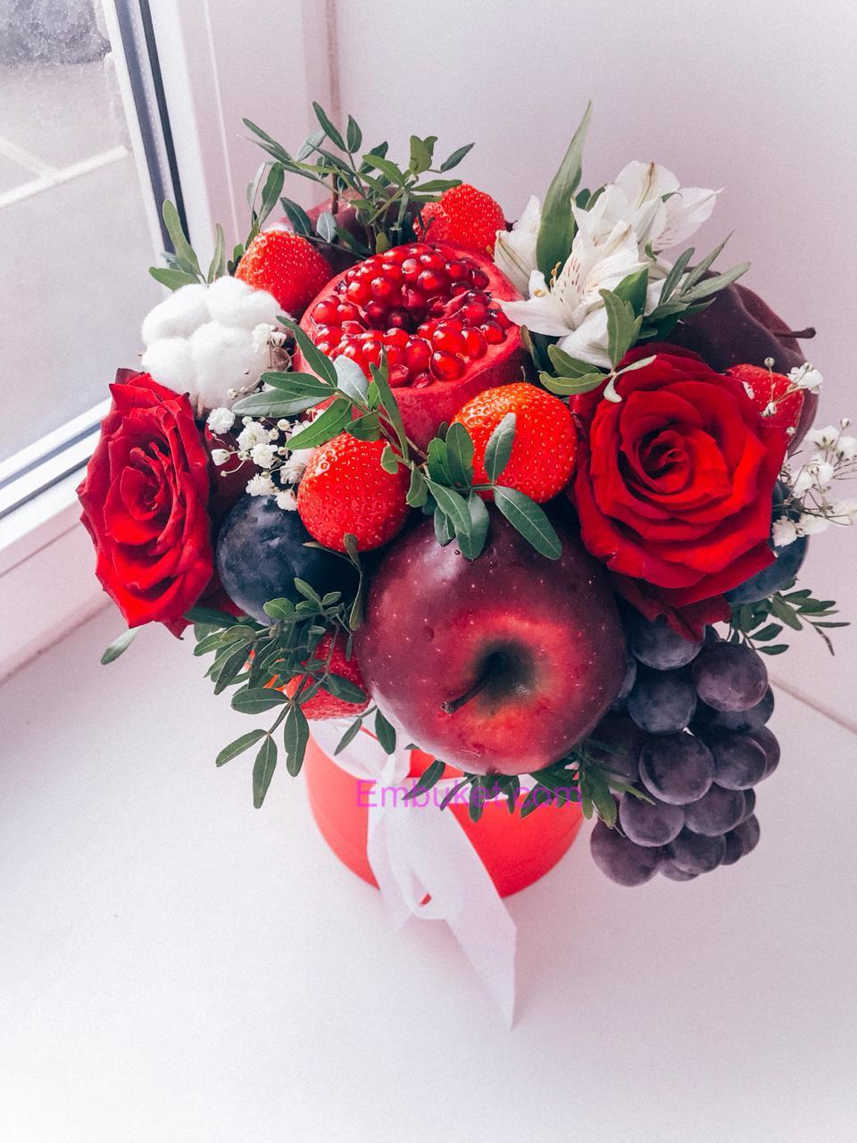 Букеты из 5 цветов и фруктов спб — img 14