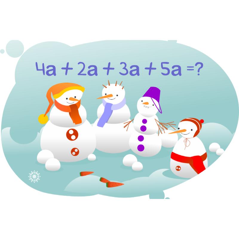 Задача со снеговиками на порядок действий