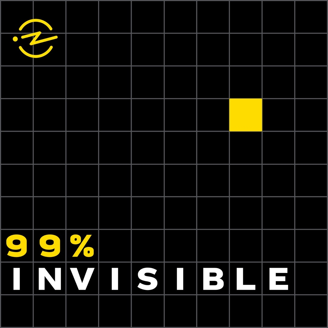Podcast cover art for 99% Invisible Podcast with Roman Mars