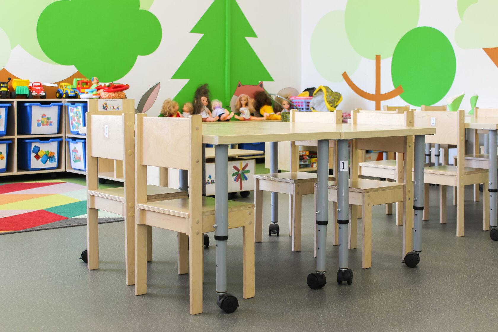 оборудование мебель для детских садов
