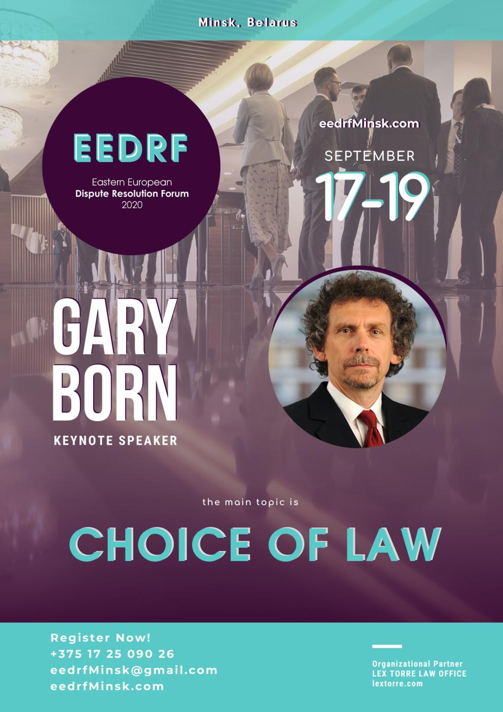 EEDRF 2020 keynote Gary Born