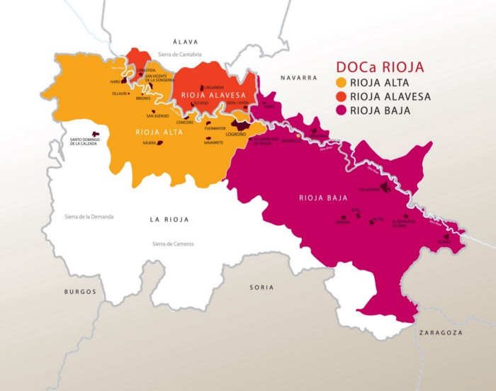 map of Rioja