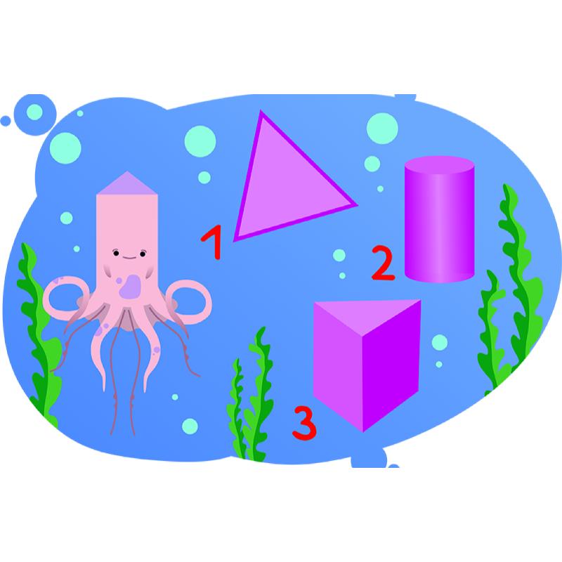 Объемные фигуры в подводном мире