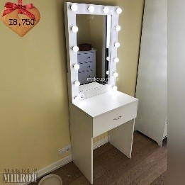 Туалетный стол для макияжа с зеркалом 1 ящик с ручкой