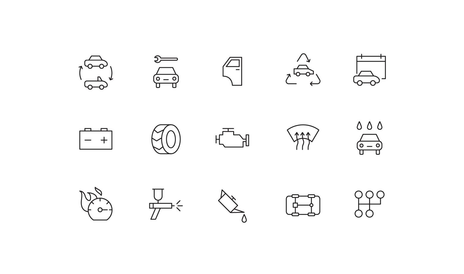 "Icons ""Car service"""
